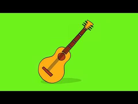 apprendre dessiner une guitare youtube. Black Bedroom Furniture Sets. Home Design Ideas