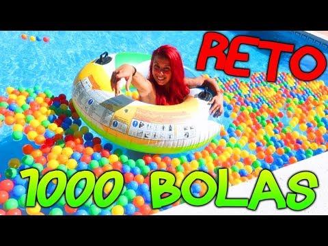 COGE LAS BOLAS SI PUEDES!! RETO PISCINA CON 1000 BOLAS