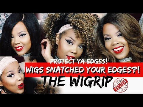 PROTECT YOUR EDGES + SECURE ANY WIG! NO GEL, GLUE OR TAPE! THE WIGRIP. NO SLIDING WIGS | TASTEPINK