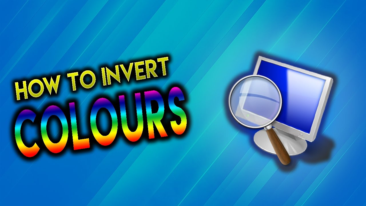 Invert color jpg online - How To Invert Colours On Your Pc Laptop