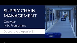 The MSc Supply Chain Management at Rotterdam School of Management, ...