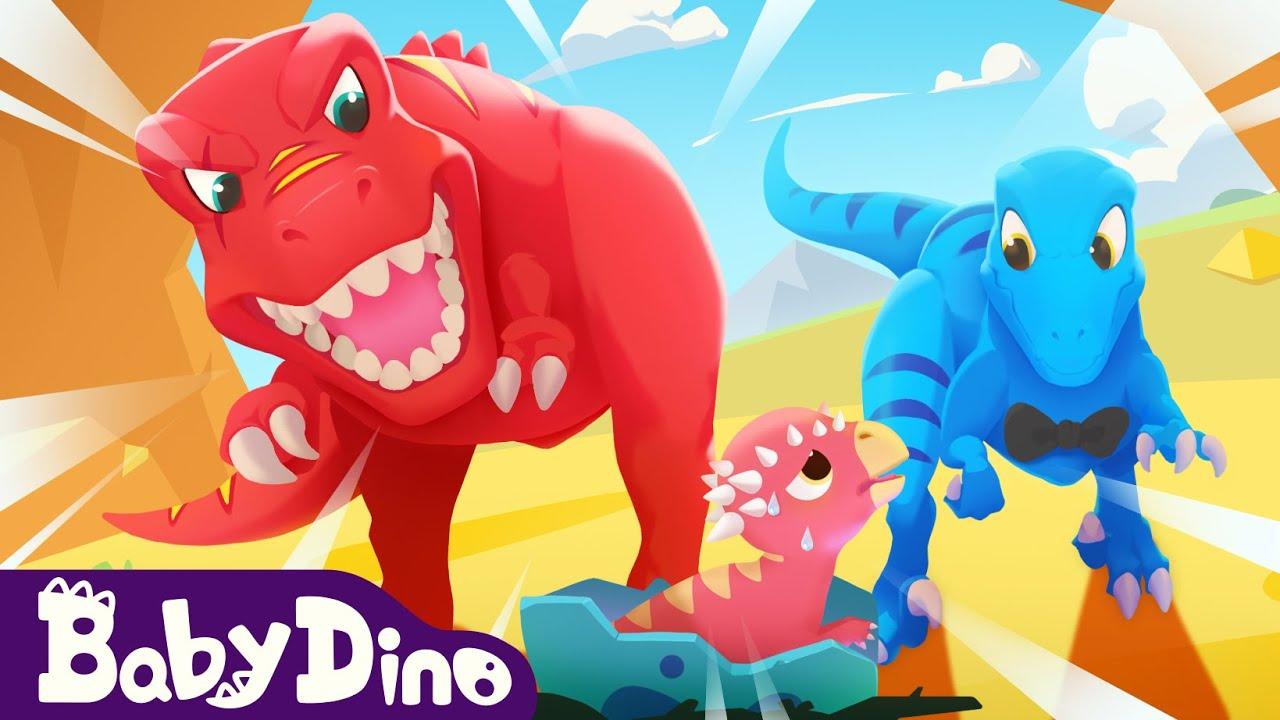 BabyDino ep1 preview📺 - T-Rex Scary Roar & Chase   Jurassic World   Dinos Cartoon   Yateland