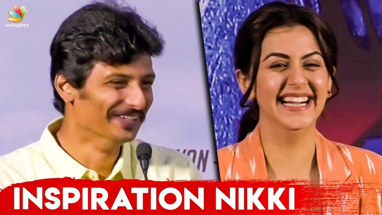 Why Nikki Galrani Is My Inspiration? : Jiiva Speech | Kee Audio Launch
