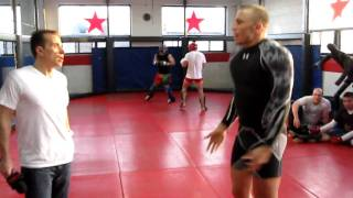 GSP warms up for Georges Laraque fight - Part 1