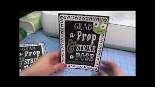 Chalkboard Font Table Top Easel Frame With Cricut Explore