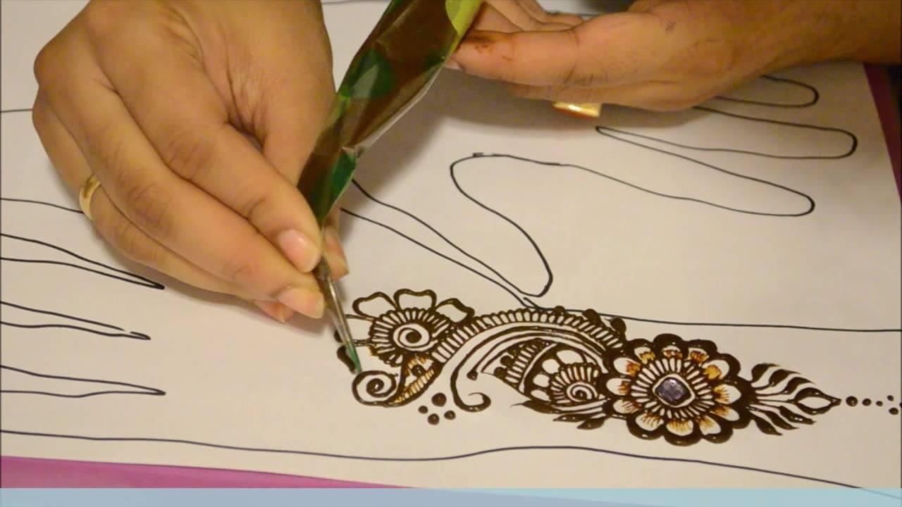 Simple Indian Mehndi Henna Design Youtube
