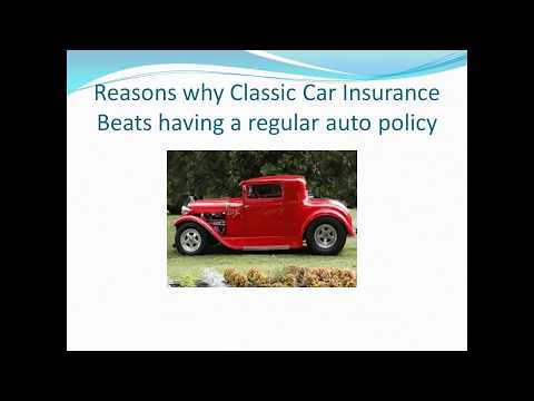 Basics Of A Classic Car Insurance Policy