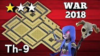 Town Hall 9 (TH9 Tested in 15 Wars) BEST WAR BASE 2018 AnTi 3 Star [AnTi All Combo] | Clash Of Clans