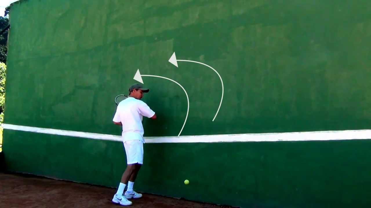 2d8e37f26a7d7 Exercício para Melhorar o forehand - Tennis Tips - Drill to improve your  forehand. Newton Tênis
