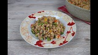 Рис с фаршем и овощами