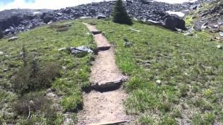 Hiking Summerland trail to Panhandle gap.