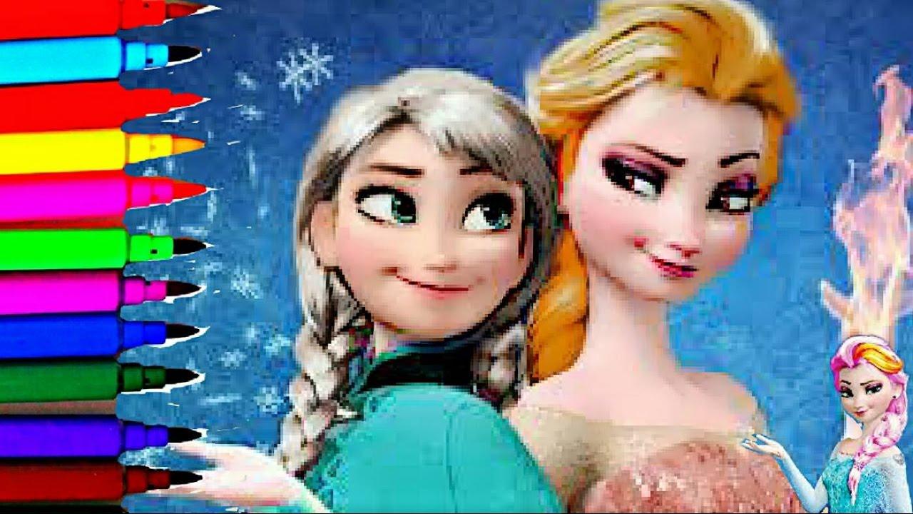 Disney Frozen Barbie Princess Coloring Book Pages Princess