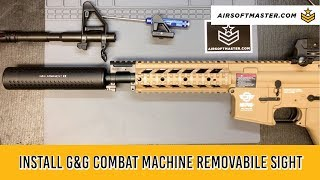 G&G Combat Machine Front Sight Removal and Replacement Install
