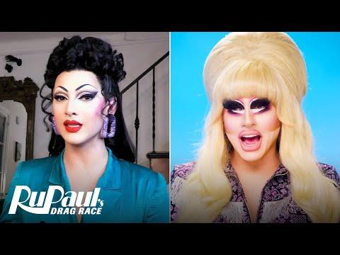 The Pit Stop S13 E5 | Trixie Mattel & Violet Chachki Judge 'The Bag Ball' | RuPaul's Drag Race