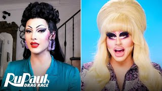 The Pit Stop S13 E5 | Trixie Mattel & Violet Chachki Judge 'The Bag Ball' | RuPaul's Drag Race