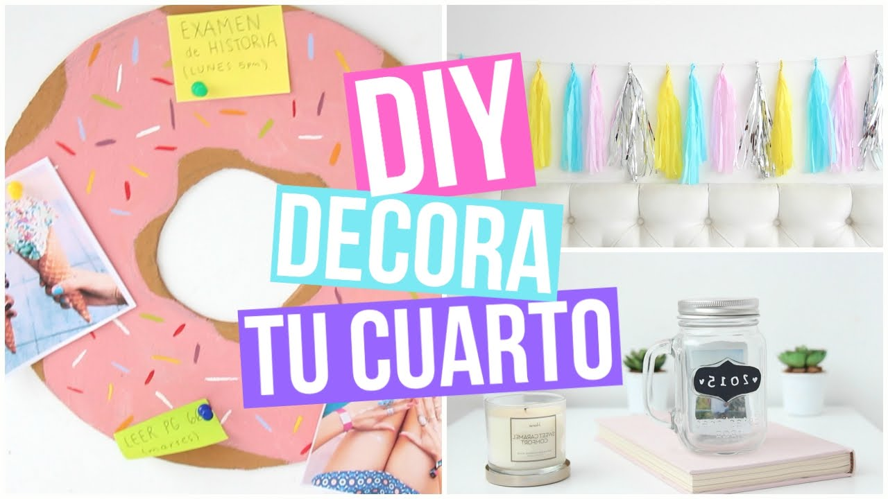 Diy decoraci n para tu cuarto youtube for Decoraciones para mi habitacion