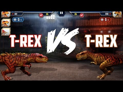 T-Rex VS T-Rex Jurassic World The Game