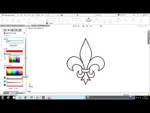 changing-the-sketch-color-in-solidworks