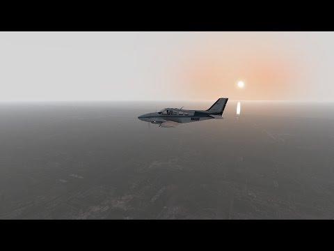 X Plane 11 | KHWO-KORL (Beechcraft Baron 58)