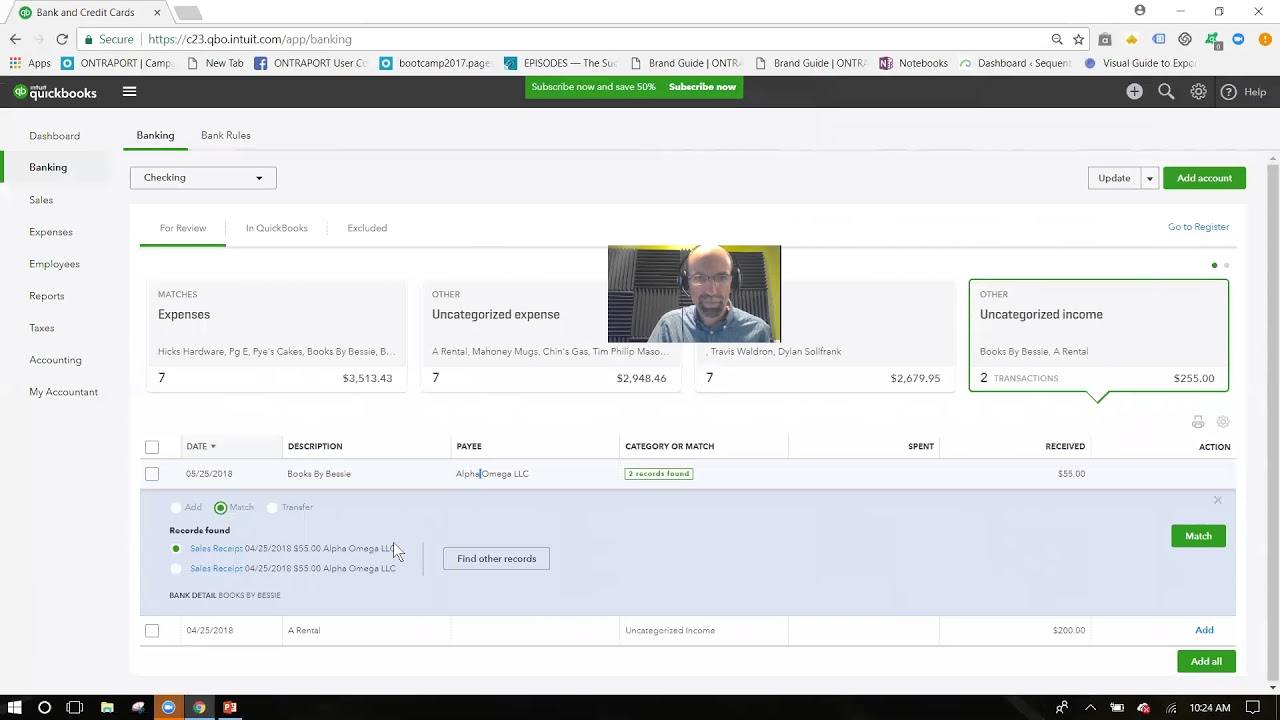 Managing the new bank feeds in QuickBooks Online – Sequentia