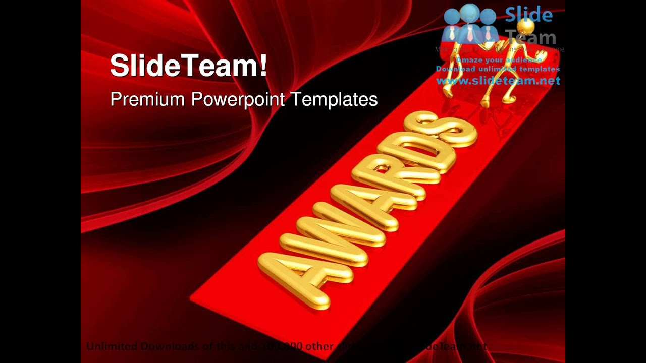 red carpet awards events powerpoint templates themes and, Modern powerpoint