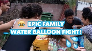 EPIC Family Water Balloon Fight!!!