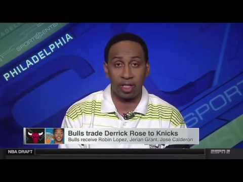 2c0fd8195a13 Stephen A Smith on Derrick Rose Trade to the Knicks - 22 June 2016 ...