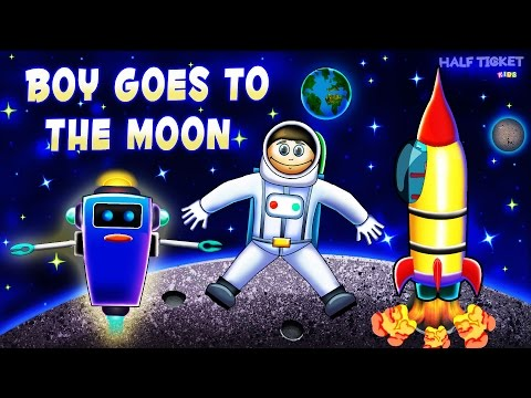 Rocket for Kids | Space Adventures For Kids | Rocket Boy Flies To The Moon