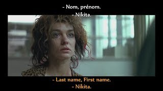 FRENCH LESSON - french movie to learn french ( french + english subtitles ) NIKITA part1