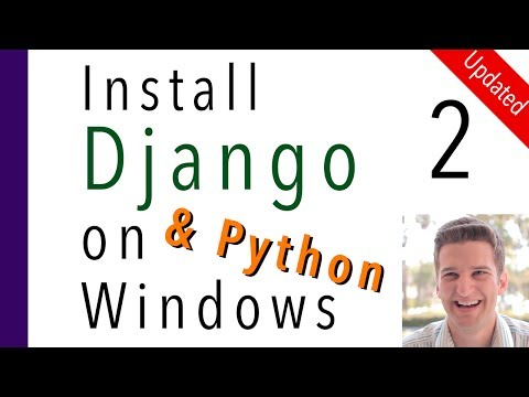 Install Django and Python on Windows 2 of 7   Install Django in a Virtual Environment