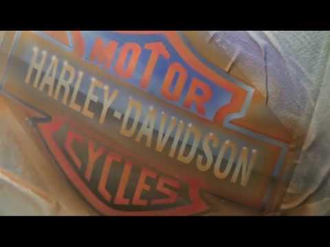 Logo Harley Davidson Airbrush Motor Bike Peinture Moto