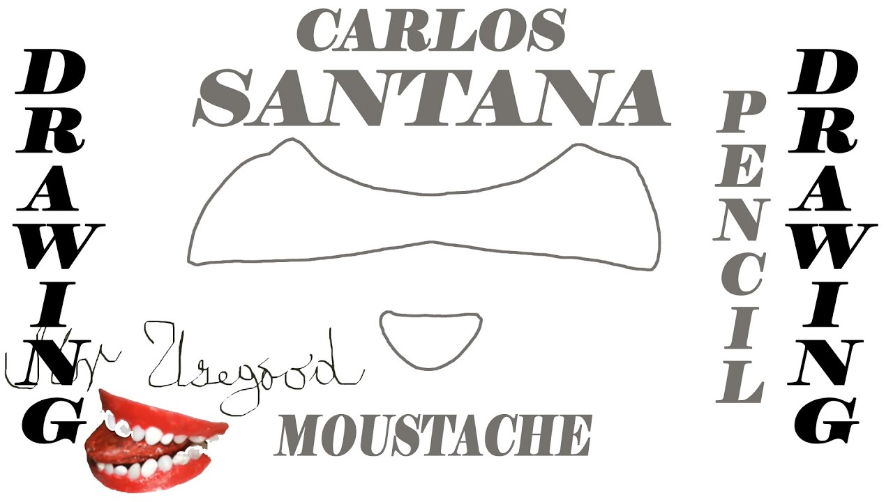 how to draw mustaches step by step