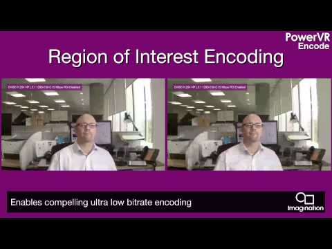 PowerVR Series5 video encoders: ROI encoding