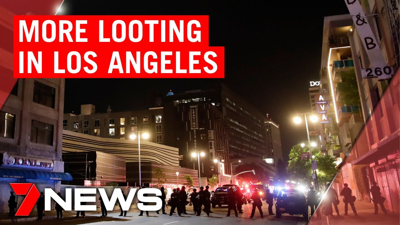 American riots: Protesters leave but looting continues in Los Angeles | 7NEWS