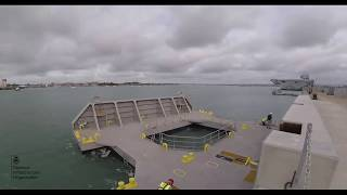 Final Preparations For Hms Prince Of Wales - Timelapse