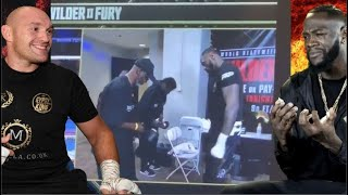 FOOTAGE: Deontay Wilder caught swapping gloves moments before Tyson Fury rematch!!