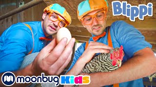 Blippi Visits a Farm Song | Sing with Blippi | Moonbug Kids
