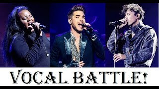 Download Vocal Battle! Adam Lambert VS Alex Newell VS Dimash Kudaibergen (A4-B5) Mp3 and Videos