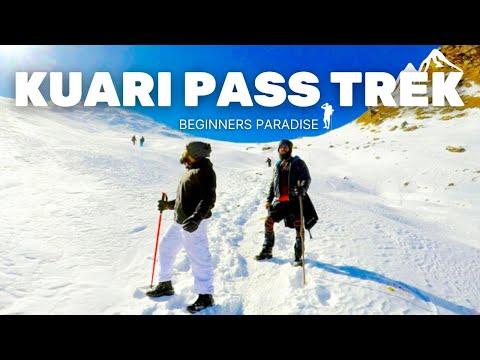Best winter snow trek in India 'KUARI PASS'🏔(Beginner's Paradise)