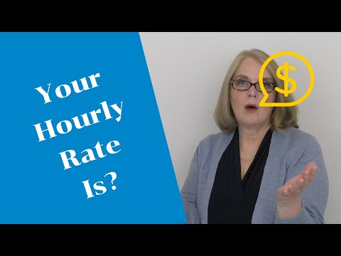 HOW TO DETERMINE YOUR CONSULTING HOURLY RATE: PAY YOURSELF WHAT YOU DESIRE