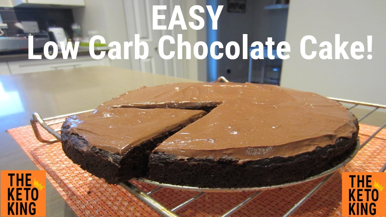 Chocolate Zucchini Cake Low Carb