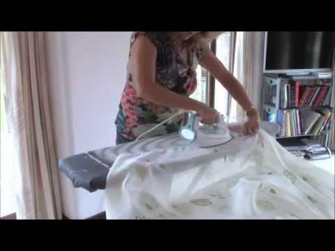 HOW TO MAKE VOILE CURTAINS - YouTube