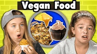 "Vegan food tried by Kids. Watch all People Vs Food Eps: https://fbereact.com/PvF Join the SuperFam and support FBE: https://www.youtube.com/user/React/join SUBSCRIBE & HIT THE 🔔. New Videos 12pm PT on REACT: http://fbereact.com/SubscribeREACT What should we react to next?? https://fbereact.com/submit Watch More from React: http://fbereact.com/REACTallepisodes Watch More from FBE: http://fbereact.com/FBEallreactepisodes Join us LIVE on React every Tuesday, Friday, and Sunday at 3pm PST. Sign Up for Our Newsletter: http://fbereact.com/info  Do Kids like vegan food? Watch to see their reactions.  Reactors Featured: Dominick Eleanor Maxim Royel https://www.youtube.com/user/royelaugustine Sophie https://www.instagram.com/Sophia_Rose_Nikolov/ Sydney https://www.instagram.com/sydneybergerson/ Tida https://www.instagram.com/Lanegirls797/  MERCH 👕 https://www.shopfbe.com  Follow FBE: FBE WEBSITE: https://fbeteam.com/ FBE: http://www.youtube.com/FBE REACT: http://www.youtube.com/REACT FBE2: https://www.youtube.com/FBE2 FBELive: https://www.youtube.com/fbelive FACEBOOK: http://www.facebook.com/FBE FACEBOOK: http://www.facebook.com/FBEShows TWITTER: http://www.twitter.com/fbe INSTAGRAM: http://www.instagram.com/f/fbe SNAPCHAT: https://fbereact.com/snapchat DISCORD: https://fbereact.com/FBEdiscord TWITCH: https://www.twitch.tv/fbelive AMAZON: https://www.amazon.com/v/FBE ROKU: http://fbereact.com/FBERoku XUMO: https://fbereact.com/xumo  SEND US STUFF: FBE P.O. BOX 4324 Valley Village, CA 91617-4324  Executive Produced by Benny Fine & Rafi Fine Head of Post Production - Nick Bergthold Director of Production - Levi Smock Producer - Katie Harper Production Coordinator - Alberto Aguirre Assistant Production Coordinator - Kristy Kiefer Studio Technician - Sam Kim Jr. Studio Technicians - Oscar Ramos Production Assistant - Kyllis Jahn Editor - Karen Rivas Assistant Editor - Elizabeth Siskind Director of Post - Adam Speas Post Supervisor - Emily McGuiness Thumbnail Graphics - Brynn Shuller & Lindsey Kindt Set Design - Melissa Judson Graphics & Animation - Will Hyler Theme Music - Cyrus Ghahremani ""A Lovely Night"" by Josh Molen (http://www.TheTunePeddler.com)  © FBE, Inc  Do Kids Like Vegan Food? 