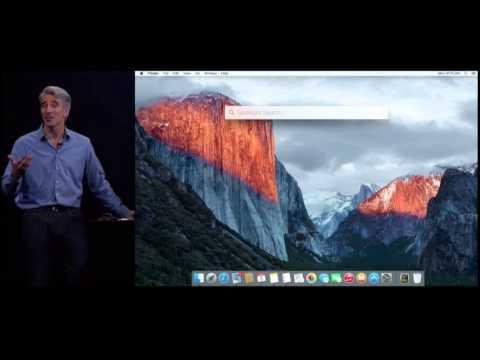 Apple OS X El Capitan New Features Demo at WWDC 2015