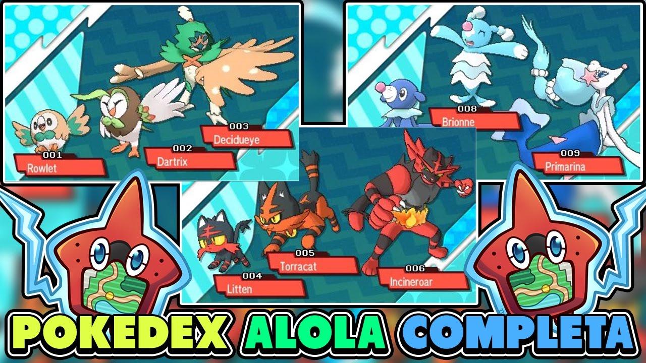 Toda La Pokedex De Alola Completa En Pokemon Sol Y Luna 1080p Youtube