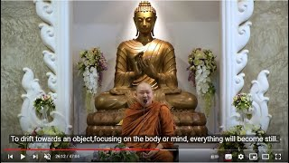 Mindfulness Meditation for Everyday Life (English Subtitle) Dhamma Talk