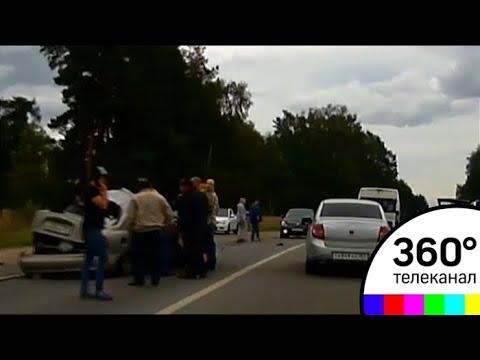 В Рузском районе рейсовый автобус попал в ДТП