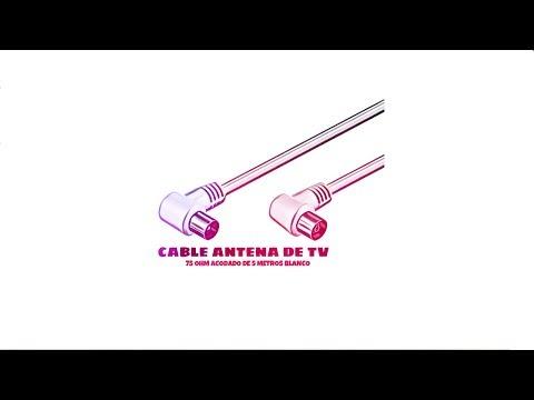Video de Cable antena de TV de 75 Ohm acodado 5 M Blanco