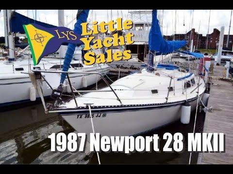 SOLD!!! 1987 Newport 28 MKII sailboat for sail at Little Yacht Sales, Kemah Texas