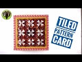 TILED MOSAIC PATTERN Card - DIY Tutorial by Paper Folds - 675